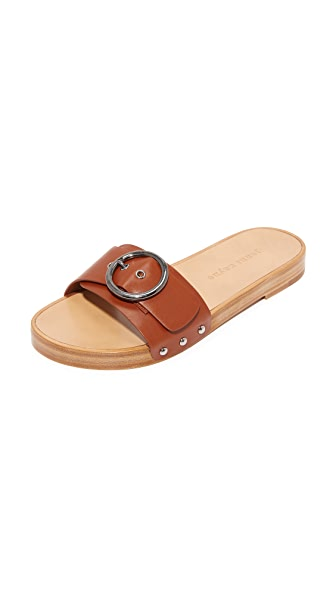 Jenni Kayne Buckle Slide Sandal - Saddle