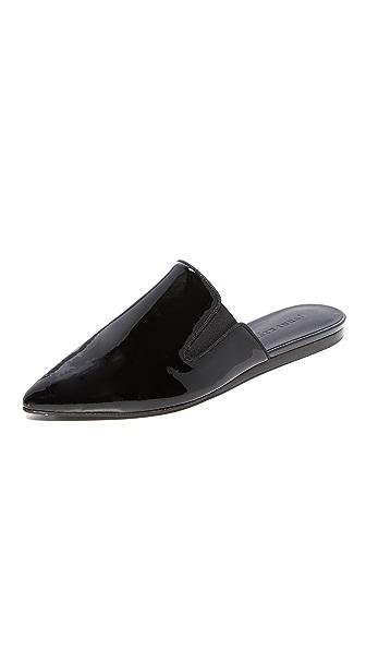 Jenni Kayne Patent Mule Slides In Black
