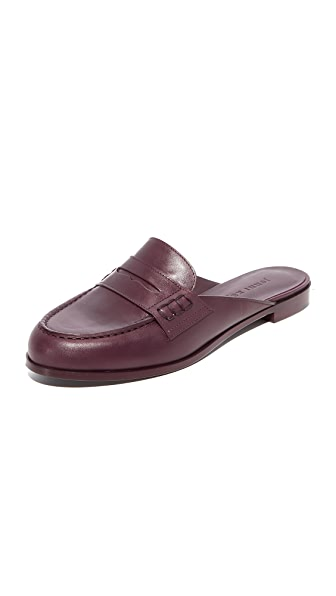 Jenni Kayne Loafer Mules - Bordeaux