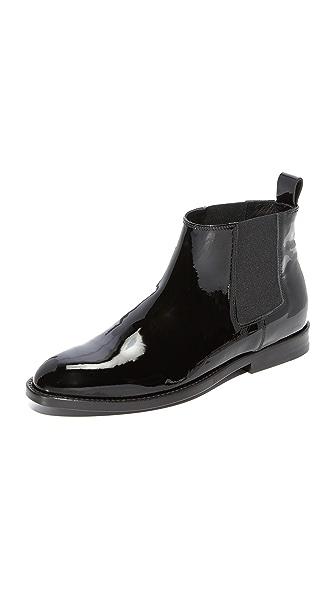 Jenni Kayne Patent Chelsea Booties - Black