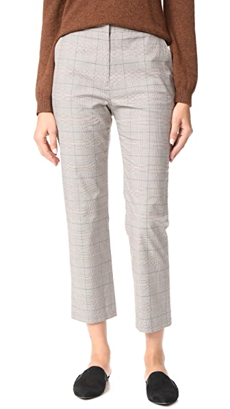 Jenni Kayne Plaid Slim Trouser - Grey/Ivory/Burgundy