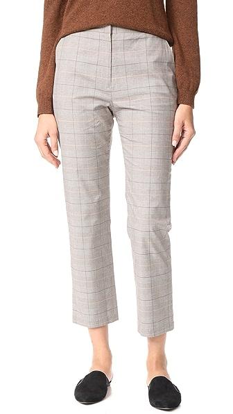 Jenni Kayne Plaid Slim Trouser - Grey/Ivory/Burgundy