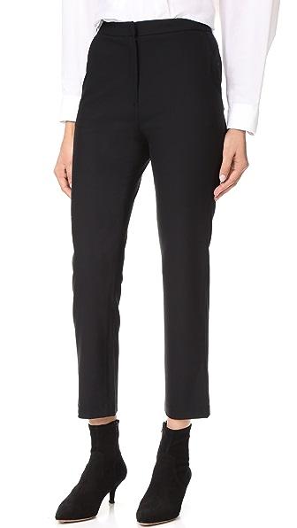 Jenni Kayne Wool Slim Trousers - Black