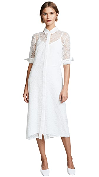 Jenni Kayne Chantilly Shirt Dress In Ivory