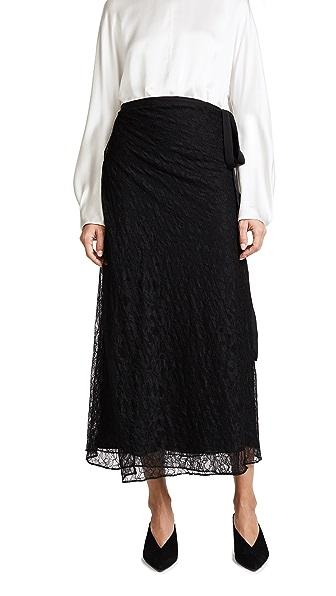 Jenni Kayne Chantilly Wrap Skirt In Black