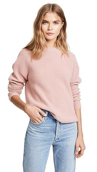 Jenni Kayne Cashmere Fisherman Sweater In Blush