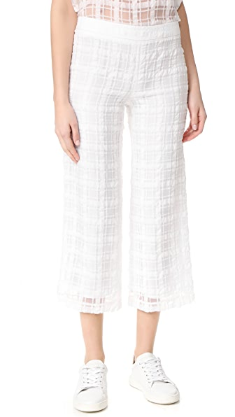 Jenni Kayne Cropped Baja Pants In White
