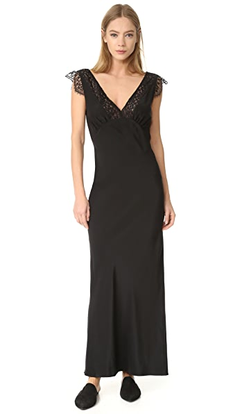 Jenni Kayne Lace V Neck Dress - Black