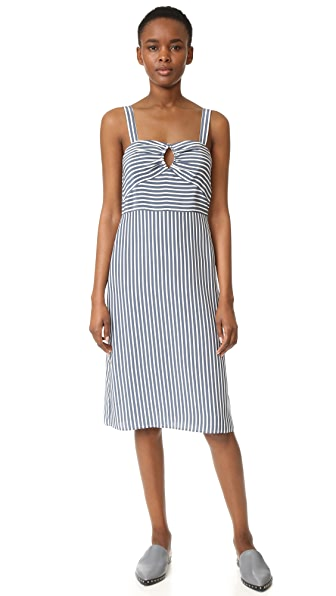 Jenni Kayne Sleeveless Striped Dress - Navy/Ivory