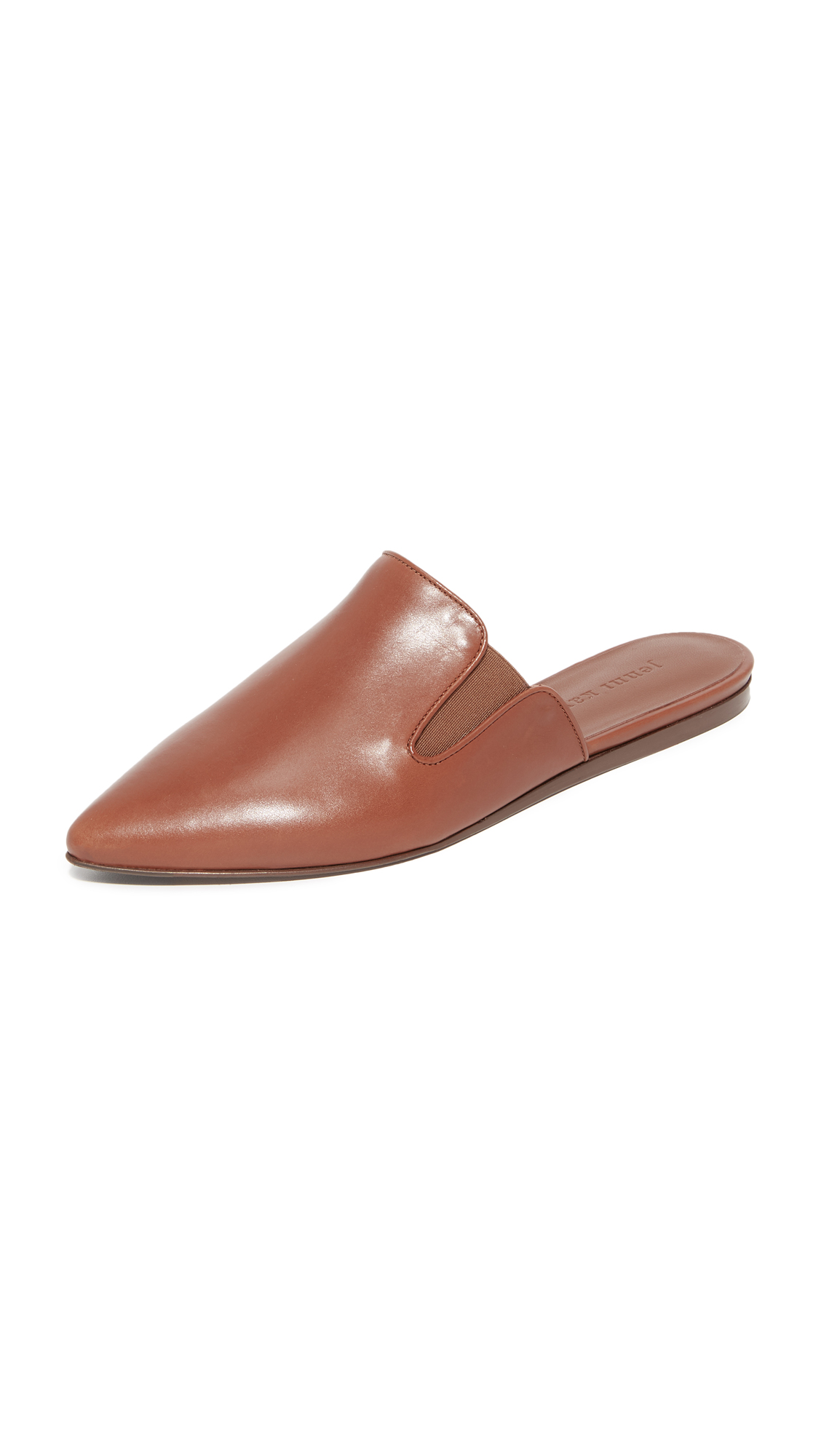 Jenni Kayne Leather Mules - Saddle