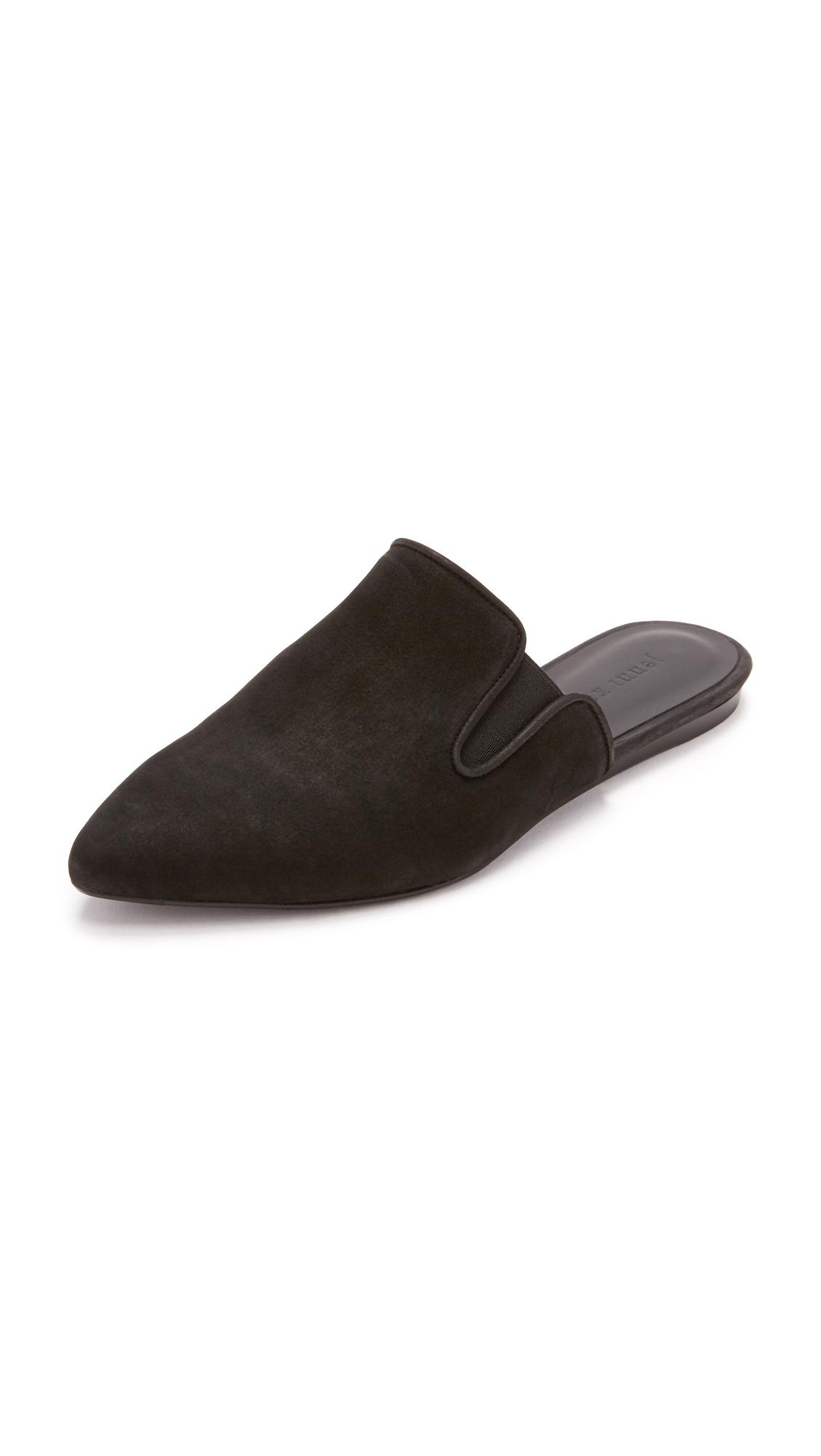 Jenni Kayne Oiled Leather Mule Slide - Black