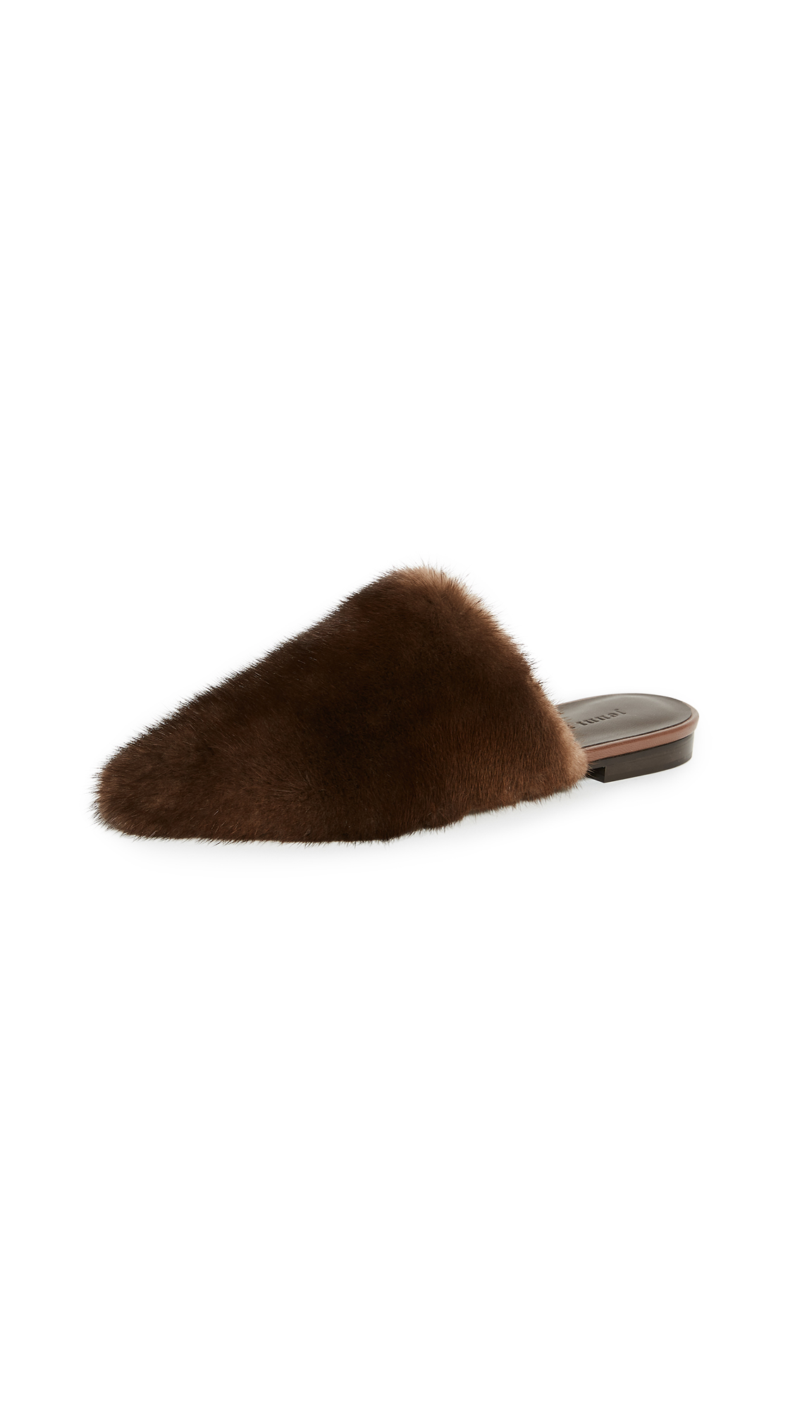 Jenni Kayne Fur Mules - Dark Brown