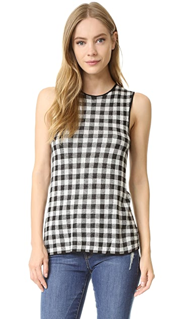 Jenni Kayne Gingham Sleeveless Sweater