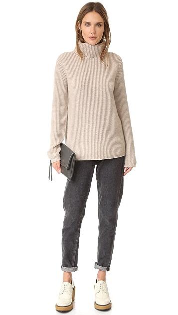 Jenni Kayne Rib Turtleneck Cashmere Sweater
