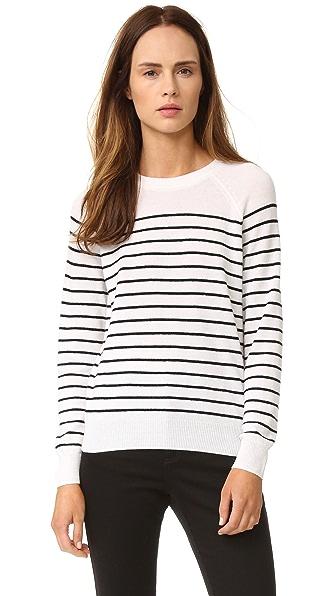 Jenni Kayne Striped Cashmere Sweater - Ivory/Black