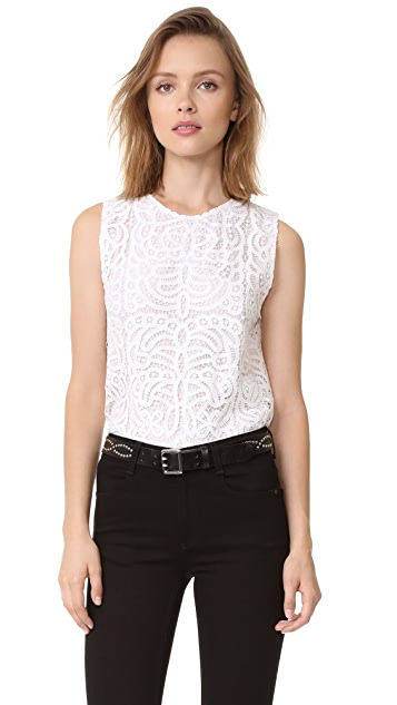 Jenni Kayne Lace Shell Top
