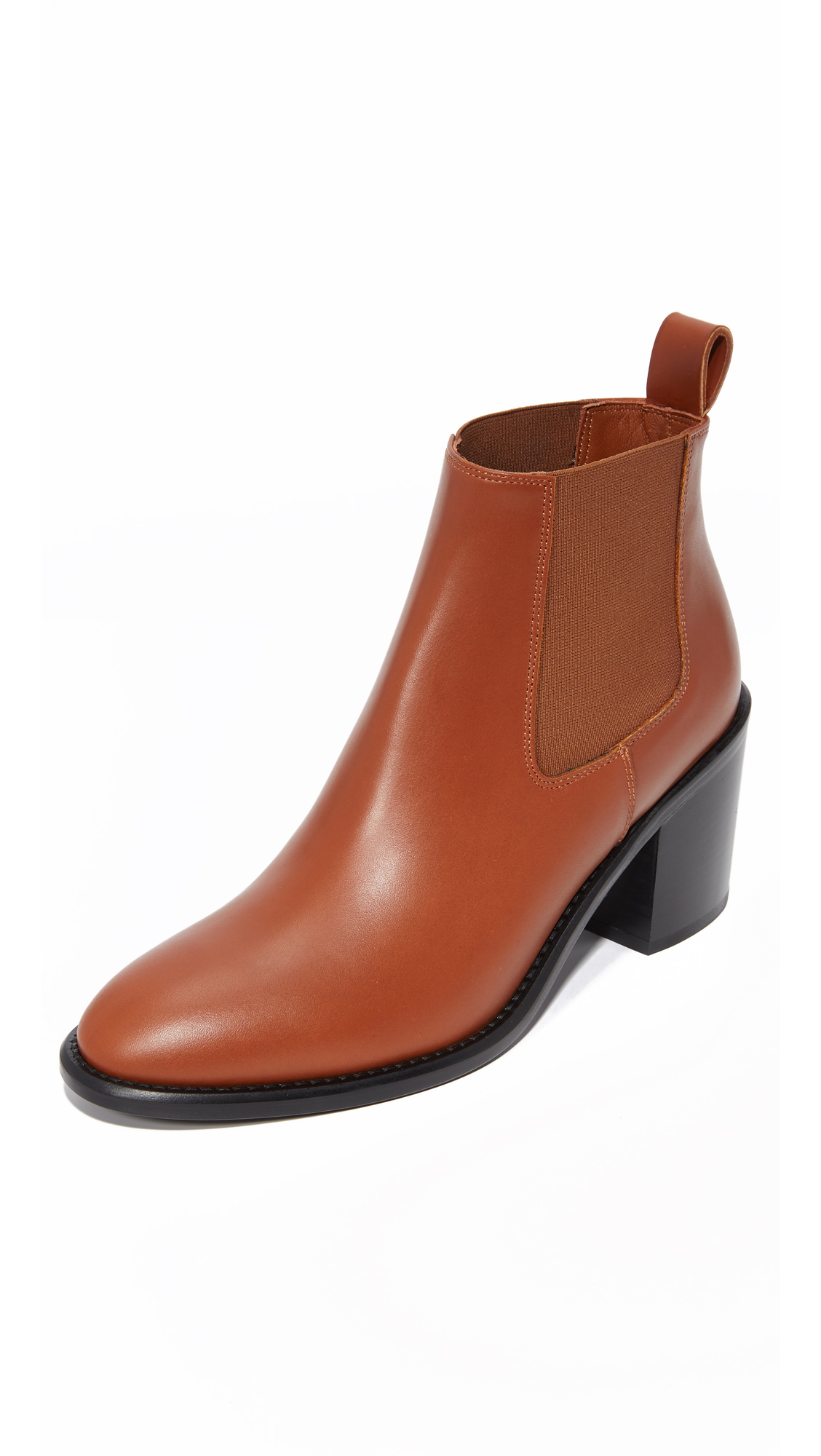 Jenni Kayne Heeled Chelsea Booties - Saddle