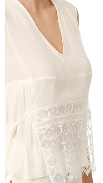 Jenni Kayne Sleeveless Lace Overlay Top