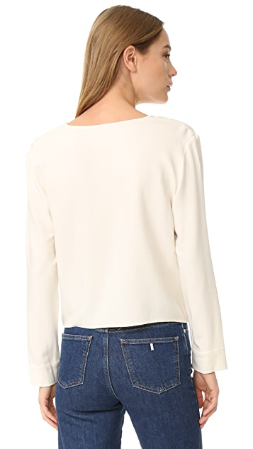 Jenni Kayne Tie Front Long Sleeve Top