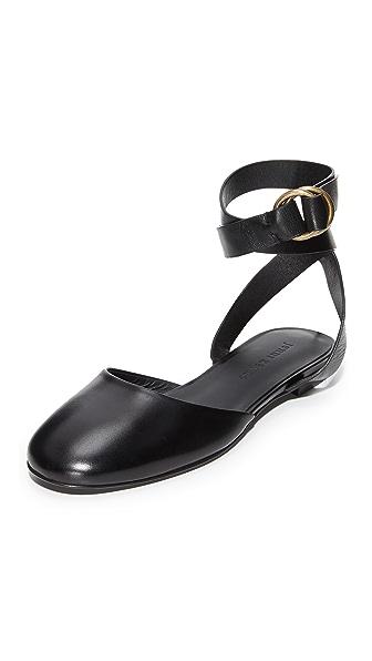 Jenni Kayne Strap Ballet Slippers - Black
