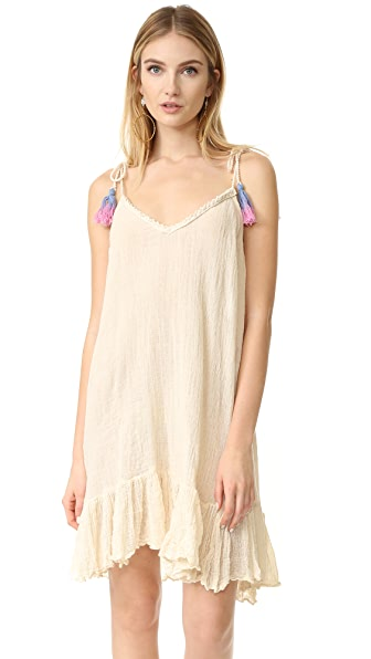 Jens Pirate Booty Citrus Cover Up - Natural/Multi Tassels