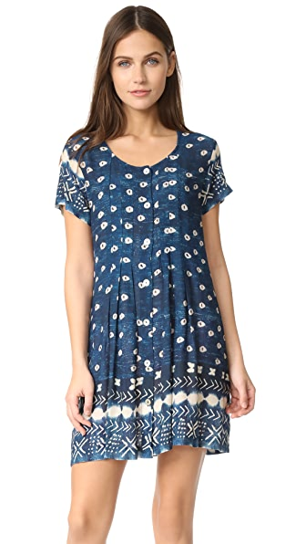 Jens Pirate Booty Indigo Cotton Wood Dress - Indigo