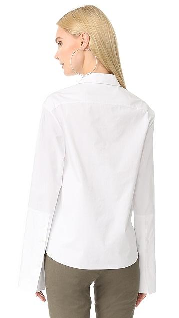 JENNY PARK Danis Drape Front Shirt