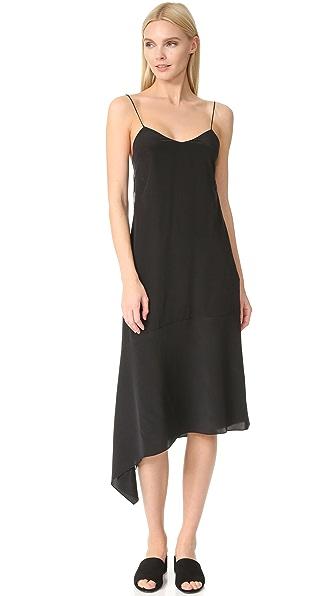 JENNY PARK Callia Hem Slip Dress In Black