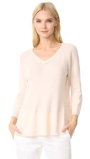JENNY PARK Jenna Ribbed Peplum Sweater