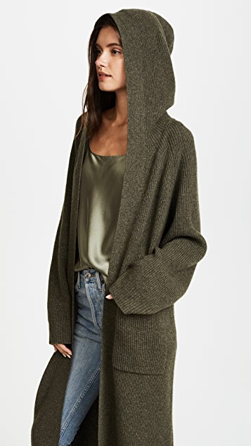 JENNY PARK Lisa Hooded Oversized Cardigan