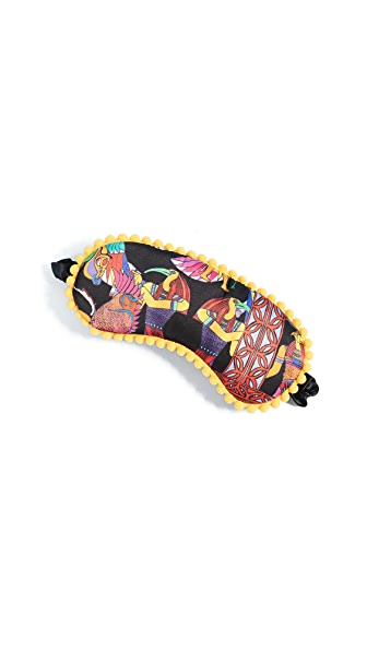 Jessica Russell Flint Egyptian Silk Sleep Mask In Multi