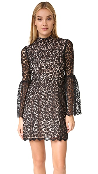 Jill Jill Stuart Mock Neck Lace Dress
