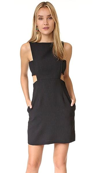 Jill Jill Stuart Cutout Dress In Black