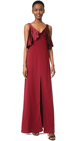 Jill Jill Stuart Satin Overlay Gown