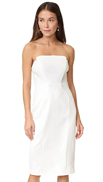 Jill Jill Stuart Strapless Midi Dress - Off White
