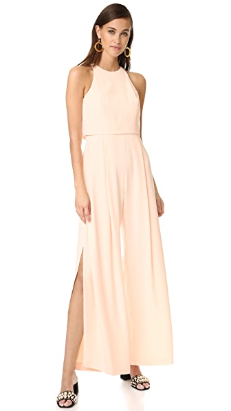 Jill Jill Stuart High Neck Sleeveless Jumpsuit - Rosy Nude