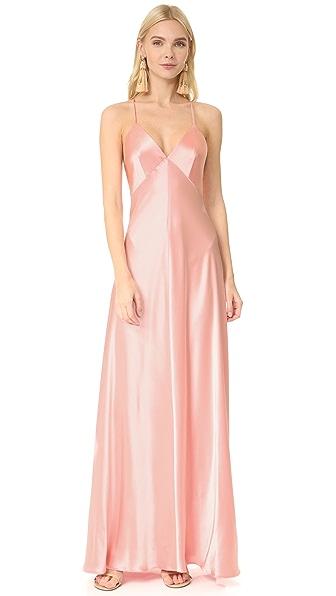 Jill Jill Stuart Satin Slip Gown - Peach Blossom