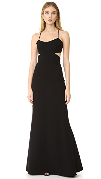Jill Jill Stuart Sleeveless Cutout Gown - Black