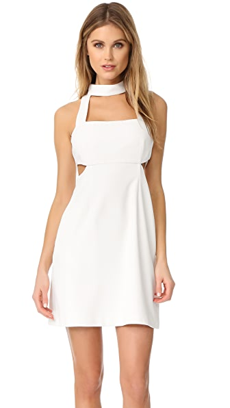 Jill Jill Stuart Halter Cutout Mini Dress In Off White