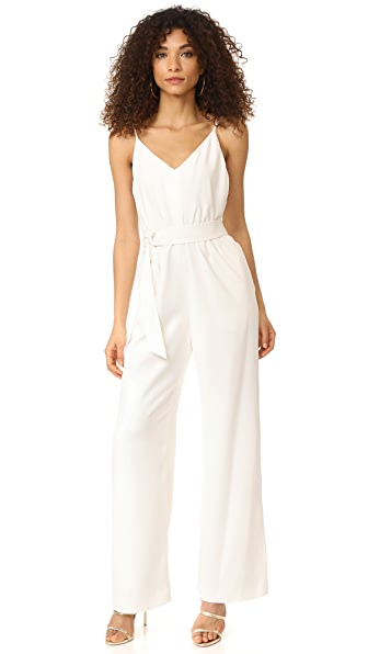Jill Jill Stuart Belted Jumpsuit In Off White