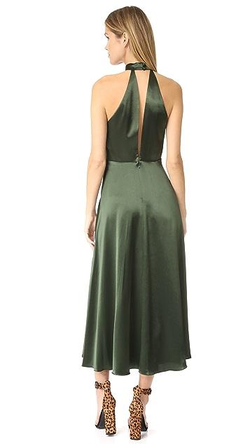 Jill Jill Stuart Choker Neck Plunge Gown
