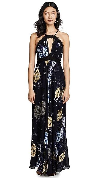 Jill Jill Stuart Keyhole Floral Gown In Margaret