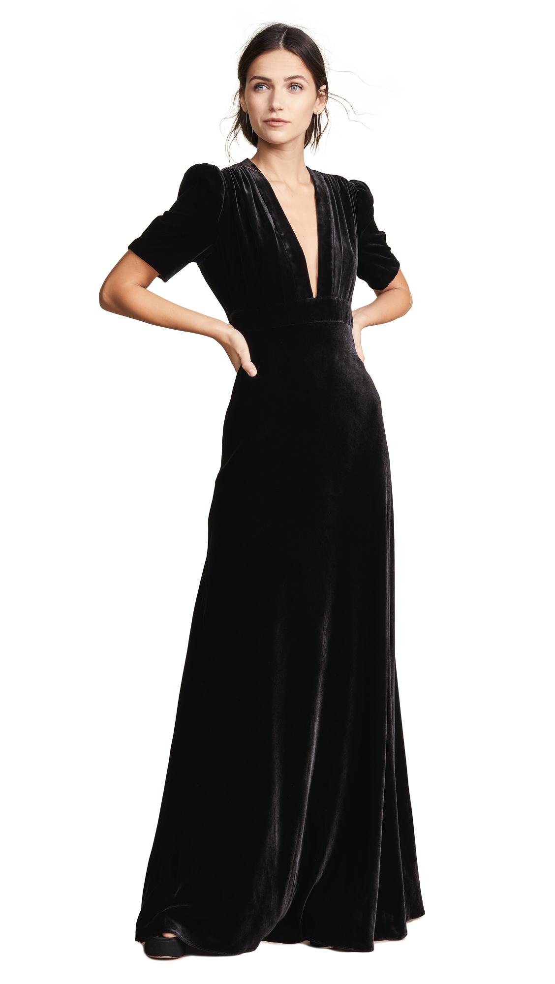 Jill Jill Stuart Short Sleeve Gown - Black