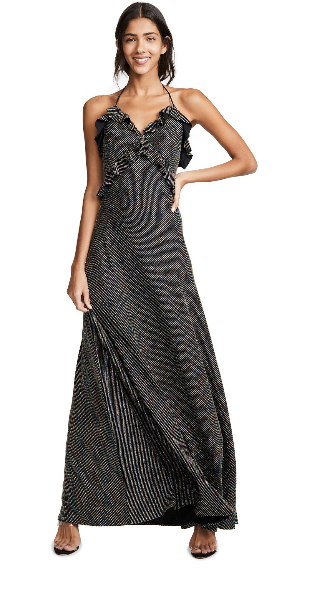 Jill Jill Stuart Metallic Stripe Dress - Silver Multi