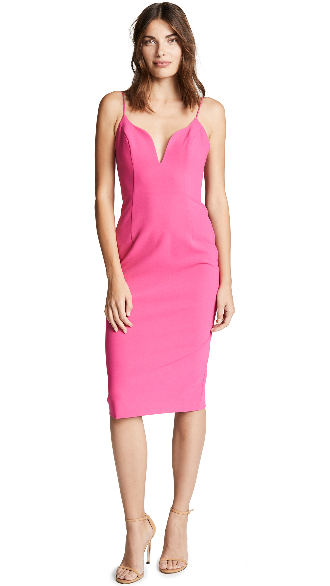 Jill Jill Stuart Midi Dress - Hot Pink