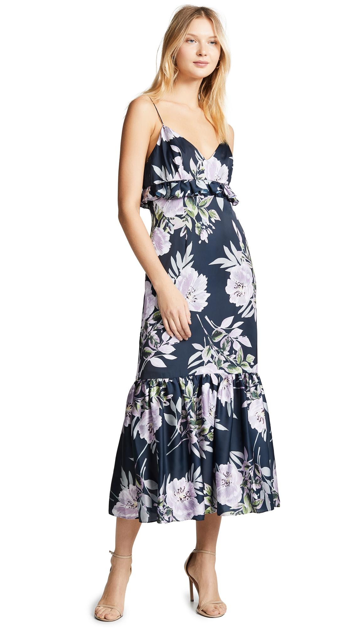 Jill Jill Stuart Ruffle Floral Gown - Floral