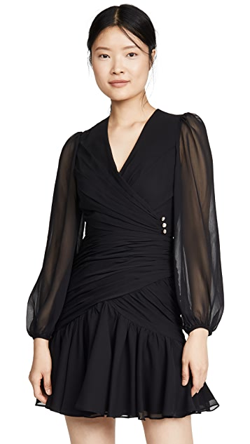 Jill Jill Stuart Ruched V Neck Dress