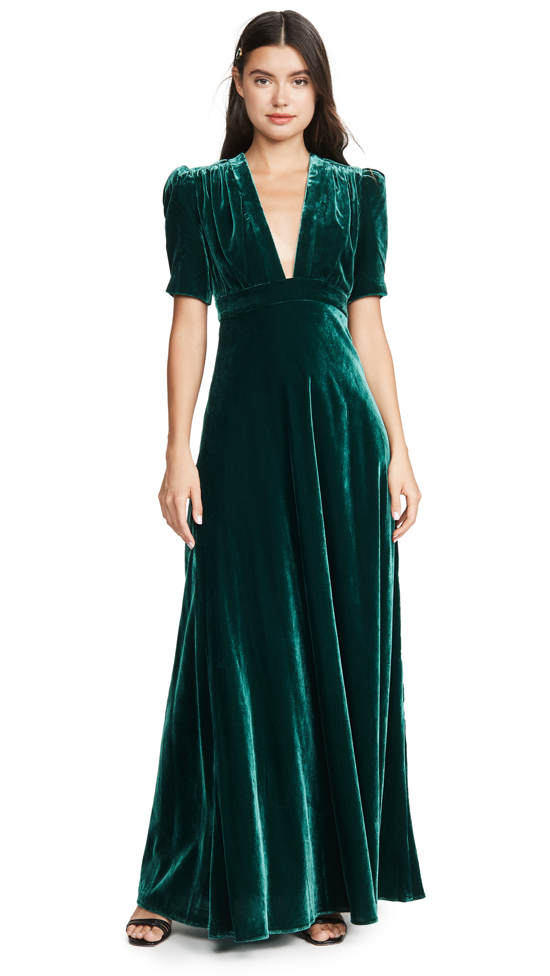 Buy Jill Jill Stuart online - photo of Jill Jill Stuart Velvet Deep V Gown