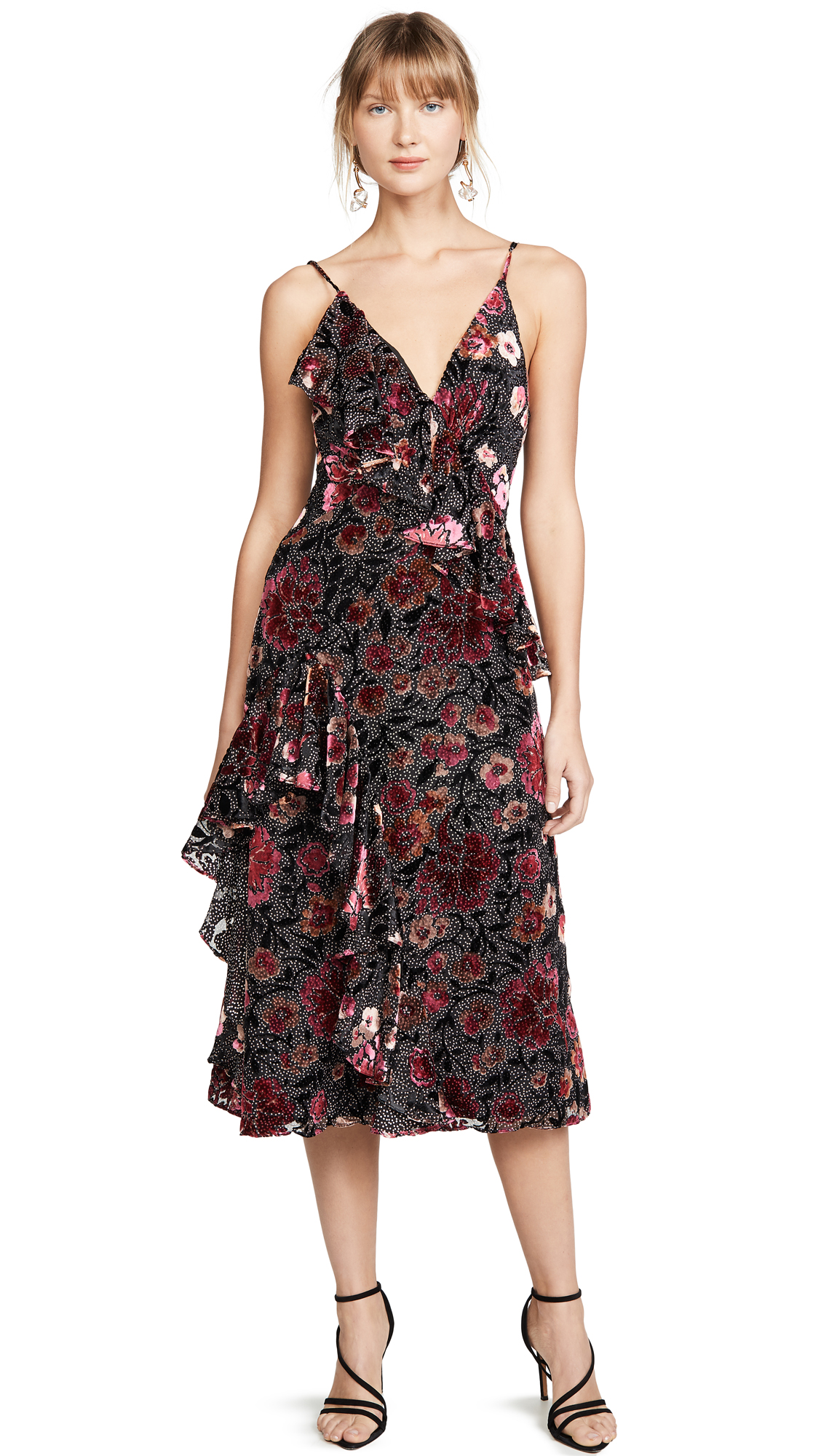 Buy Jill Jill Stuart online - photo of Jill Jill Stuart Velvet Devore Dress
