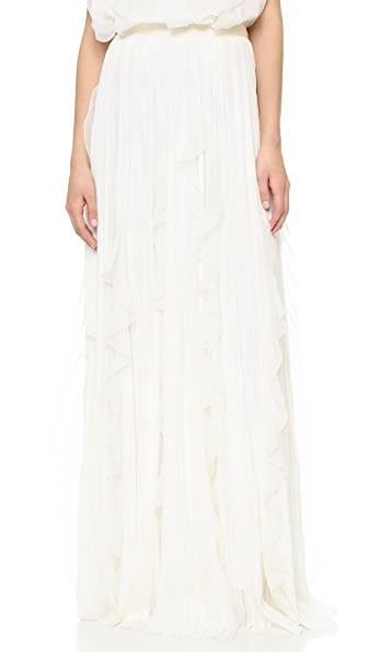 J. Mendel Floor Length Skirt